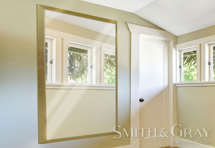 Large custom made gold leaf mirror frame mitred by Smith and Gray Furniture Makers - See More at: www.smithandgray.com.au