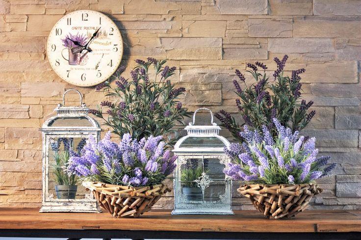 Lantern + Lavender + Wood Bowl  #HomeSweetHome #GreenApple #GAhomestyle #homestyle #Lantern #cozy #rustic