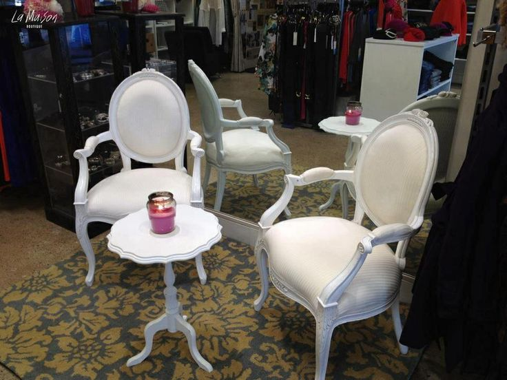 Cute French Chairs In A Fashion Store. French Style Chairs And Other French  Inspired Furniture
