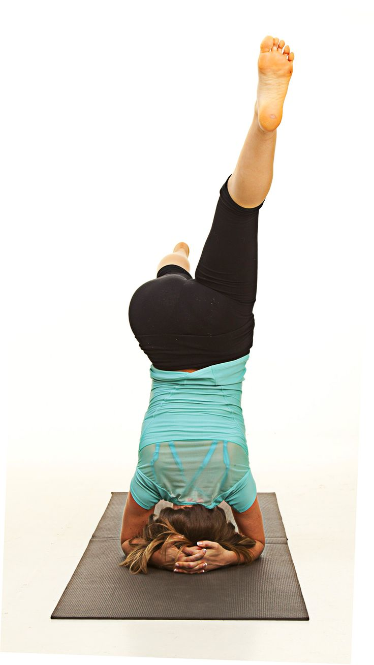 Love the extension and strength at play here in head stand variation