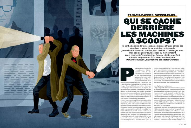 GQ France / Davet & Lhomme, the investigative Journalists ©Benedetto Cristofani, all right reserved #germany #elections2017 #journalism #investigation #GQ #panamapapers #swissleaks #davet&lhomme #illustration #editorial #editorialillustration #conceptual #conceptualillustration #graphic #graphicdesign