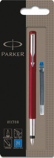 my first cheap fountain pens had like a dozen in different colors --used different inks too.The Parker Vector..