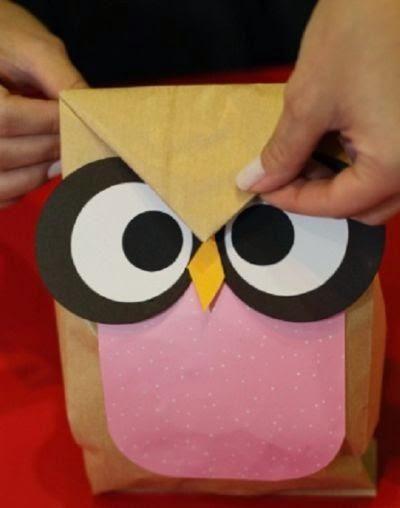 Como hacer bolsitas de souvenirs en forma de búho, con moldes.   Aprender manualidades es facilisimo.com