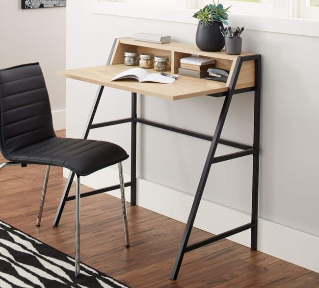 27 Products From Walmart That Ll Actually Help You Organize Your Space Desks For Small Spaces Small Desk Stylish Desk