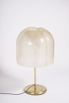 Anonymous; Resin and Brass Table Lamp, 1970s.