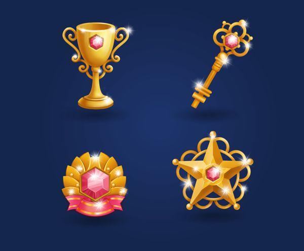 Game icons by Olya Konstantinovskaya, via Behance
