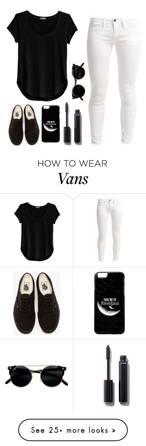 """""""black and white"""" by tryn11 on Polyvore featuring Cosabella, Benetton, Vans and Chanel"""