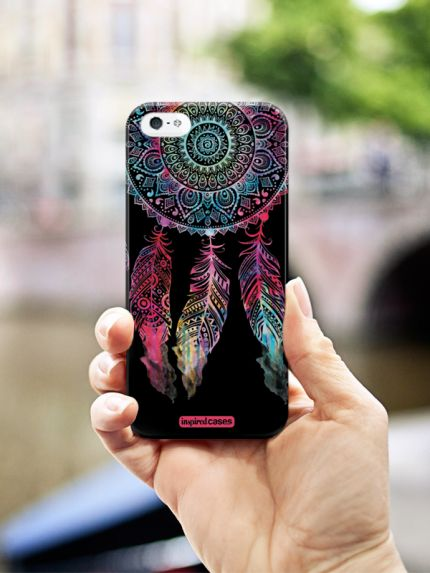 Inspired Cases Dark Watercolor Dreamcatcher Spiritual Native American Case…