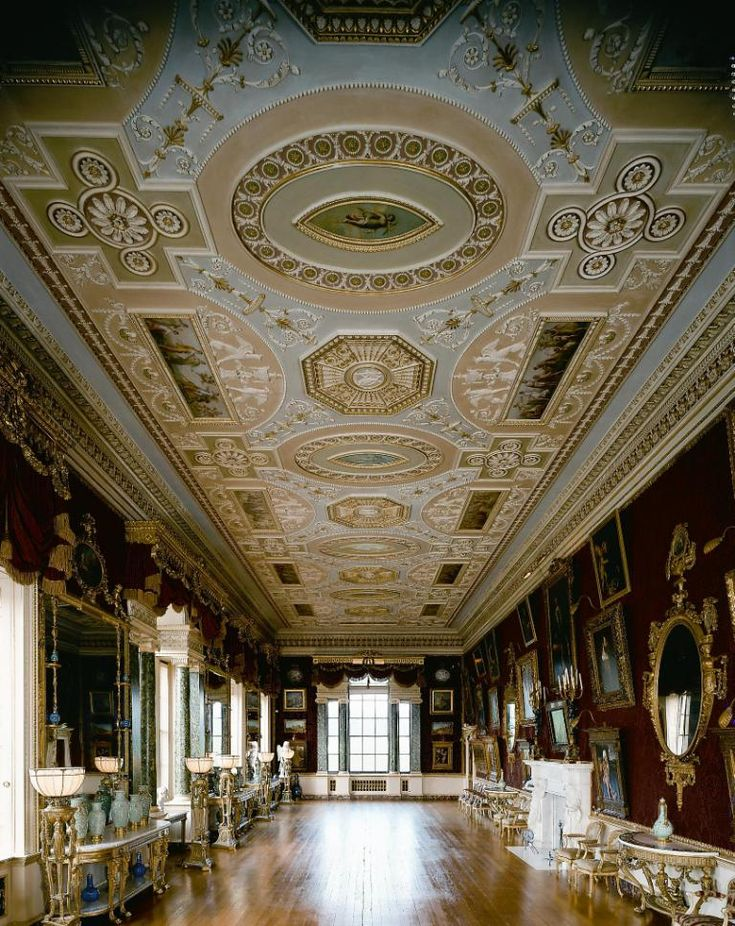 Harewood House,Yorkshire; the Gallery by Robert Adam