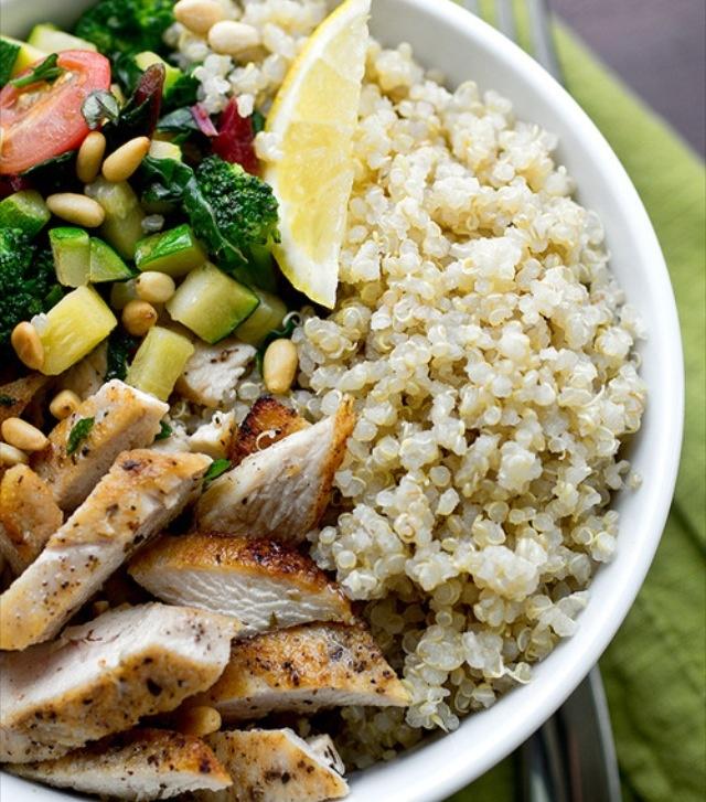 chicken, quinoa and veggies | dine | Pinterest