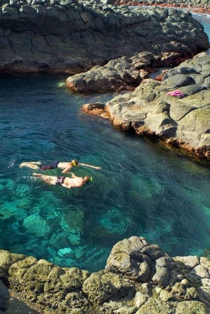 Rockpools in Norfolk Island South Pacific