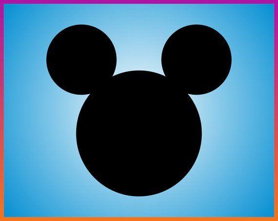 Mickey Svg Mickey Mouse Svg Mickey Head Svg Silhouette Disney Svg Cricut Vector Clipart Mickey Iron Mickey Mouse Head Mickey Mouse Mickey