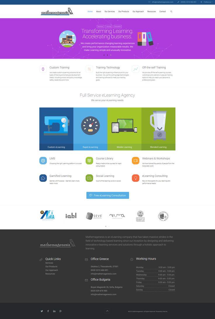 Η ομάδα μας κατασκεύασε την ιστοσελίδα της εταιρείας παροχής υπηρεσιών e-learning Mathemagenesis www.mathemagenesis.com