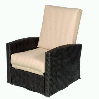 Wicker Patio Furniture | Wicker Reclining Chair W/Swivel Base   American  Sale