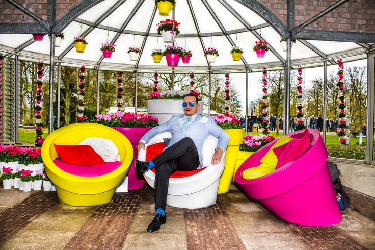 Anthony Rubio taking a moment to enjoy the view.  Photo taken at #Keukenhof in #Holland   #Amsterdam #Travel #Menswear