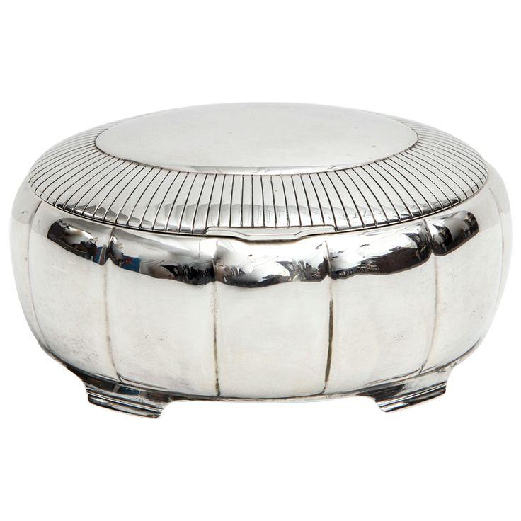 A Fine Scandinavian Silver Lidded Box by Just Andersen