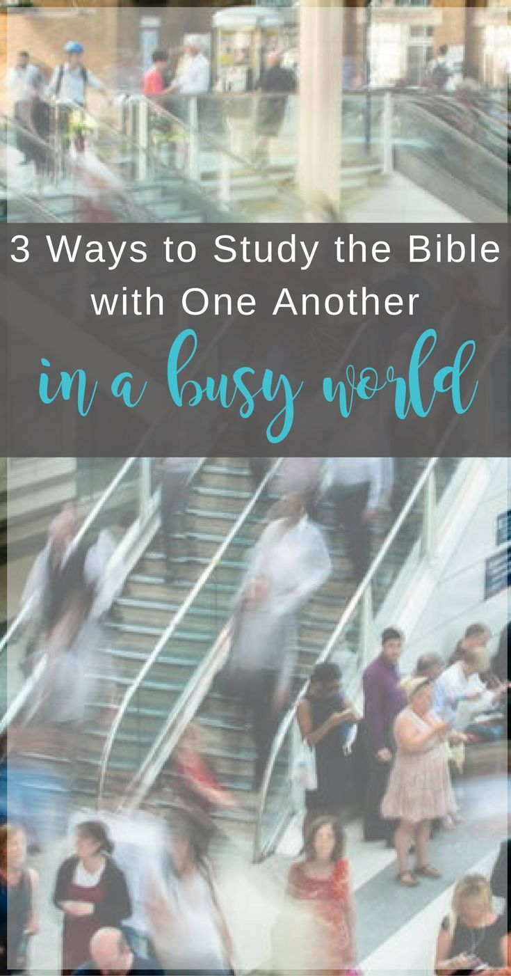 Helpful ideas for studying the Bible with others in a busy society | Scripture Confident Living