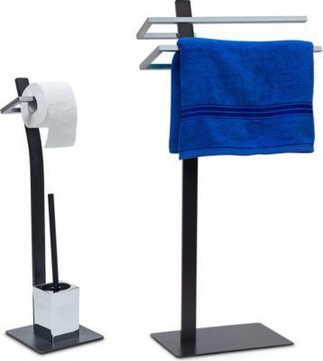 relaxdays 2 tlg Badezimmer Set GRAO Handtuchständer Toilettenbürstenhalter Klopapierhalter Jetzt bestellen unter: https://moebel.ladendirekt.de/bad/badmoebel/badmoebel-sets/?uid=e6ebd7f1-e4d8-5814-83f9-7510aa268aa6&utm_source=pinterest&utm_medium=pin&utm_campaign=boards #heim #bad #badmoebel #badmoebelsets