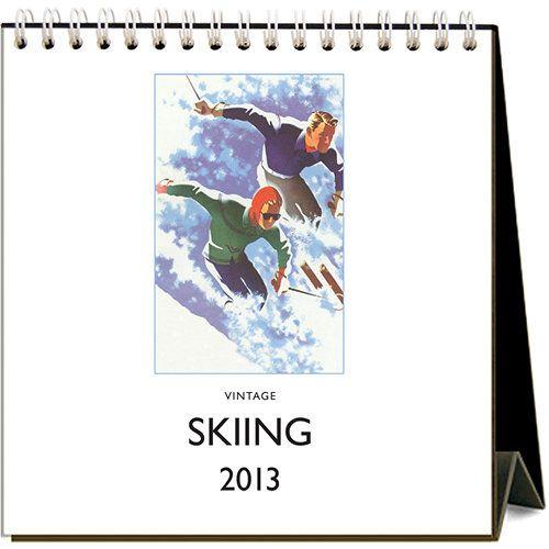 Vintage Skiing 2013 Easel Desk Calendar | | Calendars.com