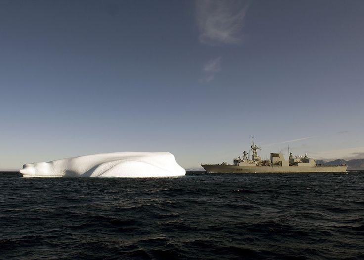 RE2009-0018-006 08 Aug 2009 Frobisher Bay, Baffin Island  HMCS Toronto navigates an iceberg    HMCS Toronto navigates past an iceberg near Frobisher Bay off the coast of Baffin Island while conducting sovereignty patrols as part of Operation NANOOK 09.  Operation NANOOK 09 is a Canada Command sovereignty operation conducted with the participation of personnel, ships and aircraft from the Navy, Army and Air Force, working under the command of Joint Task Force (North) (JTFN). The operation…