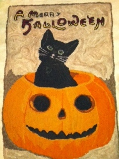 Tricia Travisu0027 Merry Halloween Rug    An Antique Postcard Hooked By Lurie  In 2012