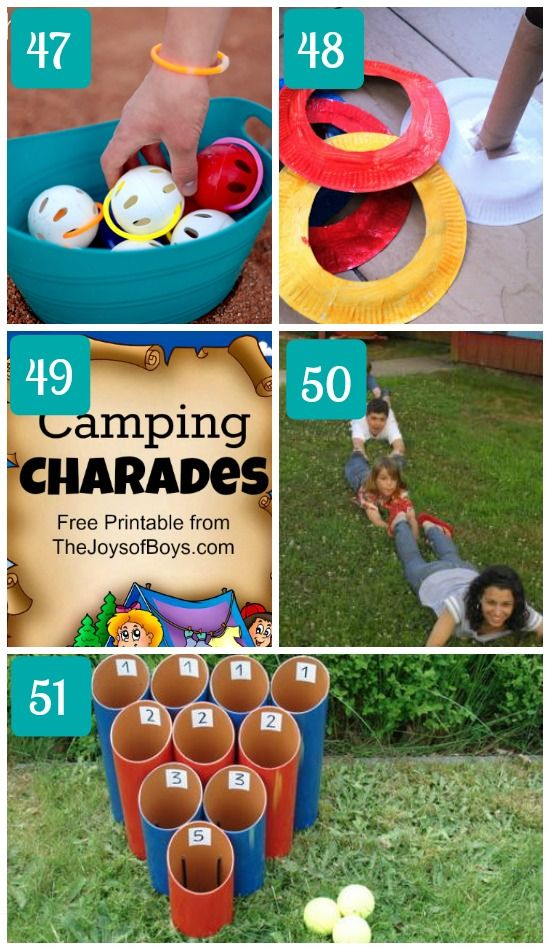 Camping Games For Families