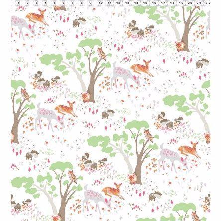 Y2065-42 Woodland Gathering Animals on White