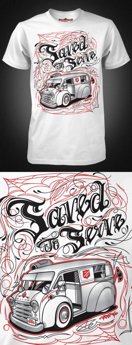 "Salvation Army - T ""Saved to Serve"""