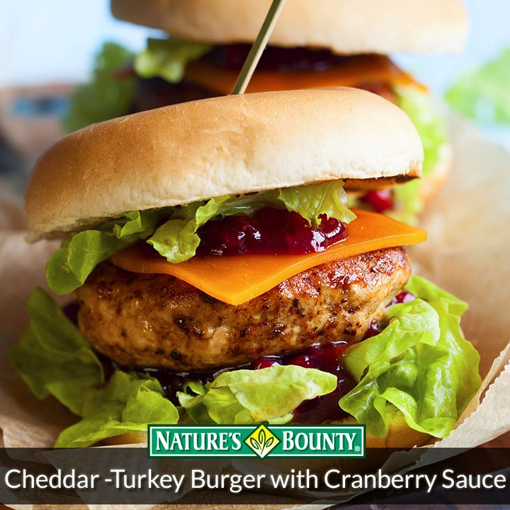 Check out this great Cheddar Turkey Burger recipe!