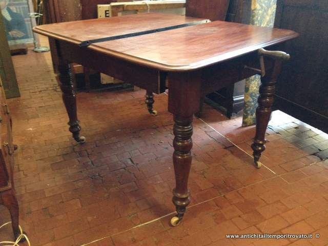 Mobili antichi - Tavoli allungabili - Tavolo apribile a manovella Tavolo allungabile Vittoriano - Immagine n°1