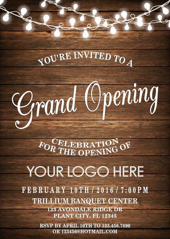 Pin On Grand Opening Invitation Sample