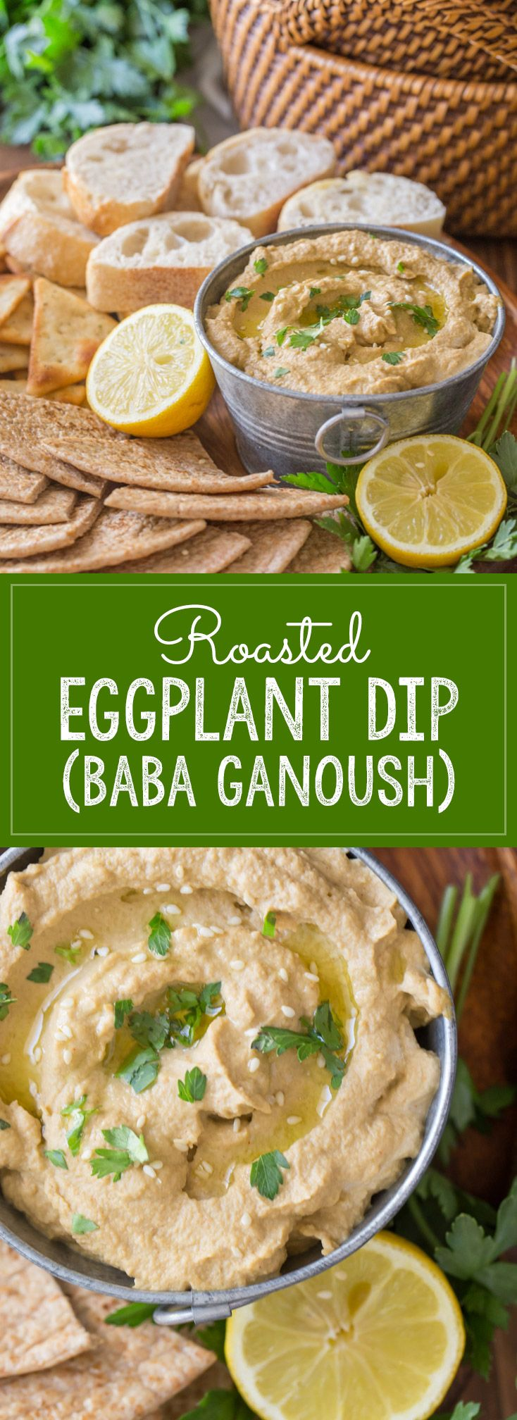 A delicious dip made with roasted eggplant, perfect as a summer side dish or for snacking.