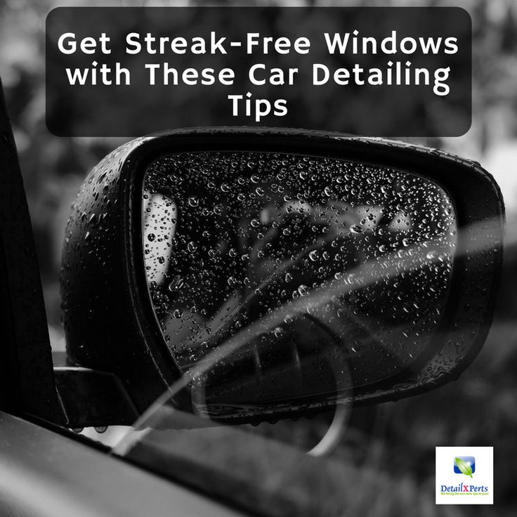 Keeping your windows and windshield smudge and hazefree