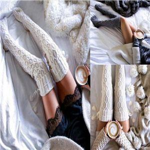 Winter Warm Women Knit Crochet Thick Long Socks Thigh-High Leggings | Victoriaswing