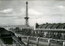 AusstellungsgeländemitFunkturm, Messedamm, Berlin - Westend (1930)