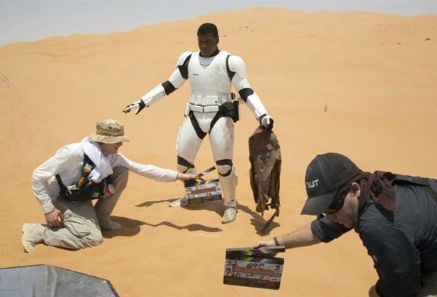 'Star Wars: the Force Awakens': 15 Behind-the-Scenes Photos Fans Saw at the 'Celebration' Panel | John Boyega's stormtrooper in the desert | EW.com