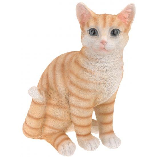 Zittende katten beeldje oranje 29 cm  Zittende katten beeldje oranje 29 cm. Dit katten beeldje is gemaakt van polystone. Enkel geschikt voor binnen gebruik.  EUR 15.99  Meer informatie