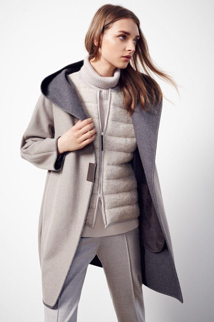 Fabiana Filippi Hooded Flannel Coat