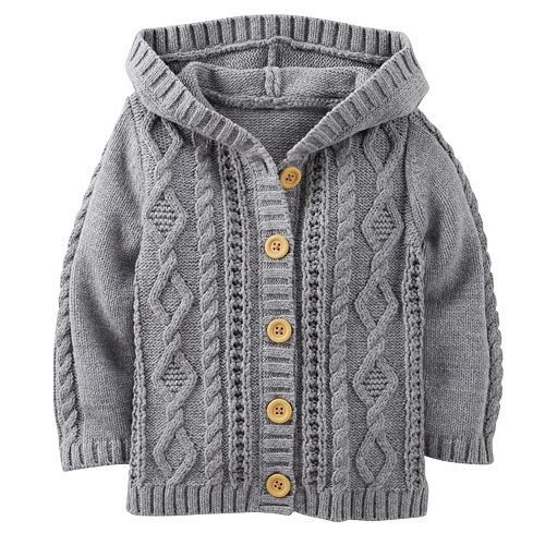 Carter's Cable-Knit Hooded Sweater - Baby
