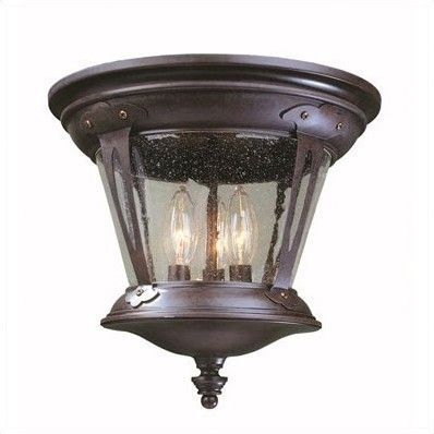 Old World Charm 3 Light Flush Mount