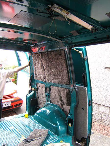 RV insulation made of sheeps wool and hemp