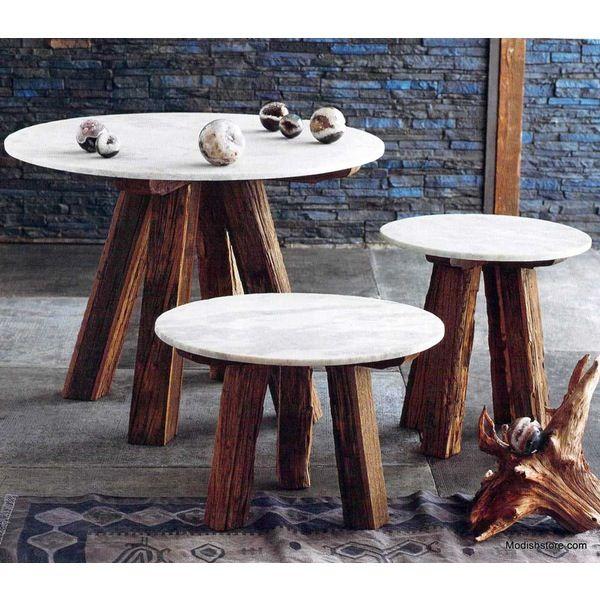 Roost Sandblasted Marble Tables