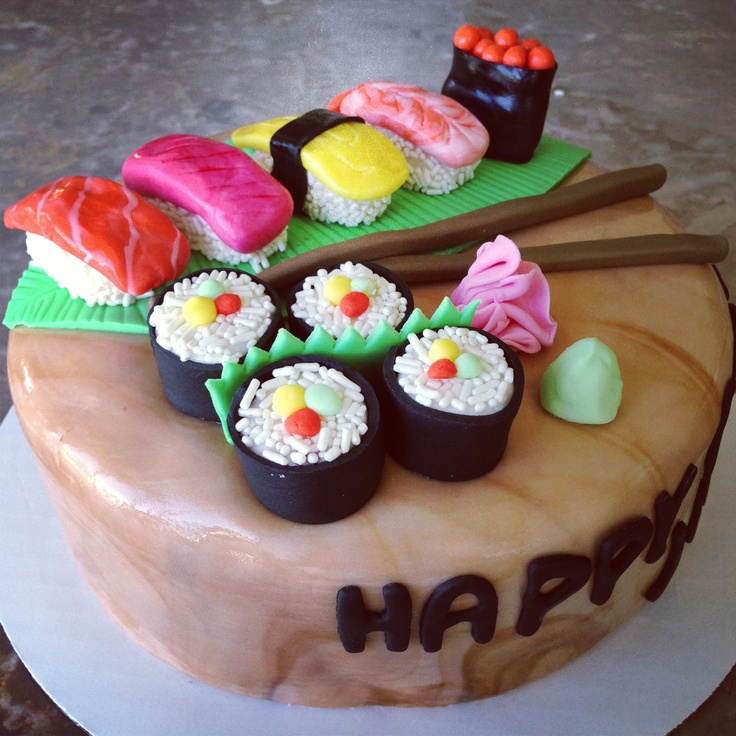 47 best images about sushi cake ideas on pinterest asian theme parties birthday cakes and. Black Bedroom Furniture Sets. Home Design Ideas