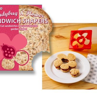 Ladybug and Flower Sandwich Cutter http://littlebentoworld.com/shop/sandwich-cutters/ladybug-and-flower-sandwich-cutter/