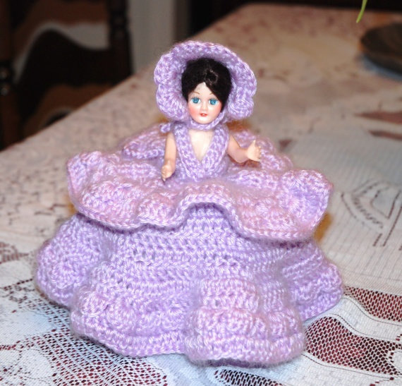 Pattern Cover Crochet Tissue Doll