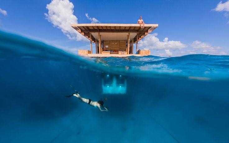 The Manta Underwater Room by Genberg Underwater Hotels