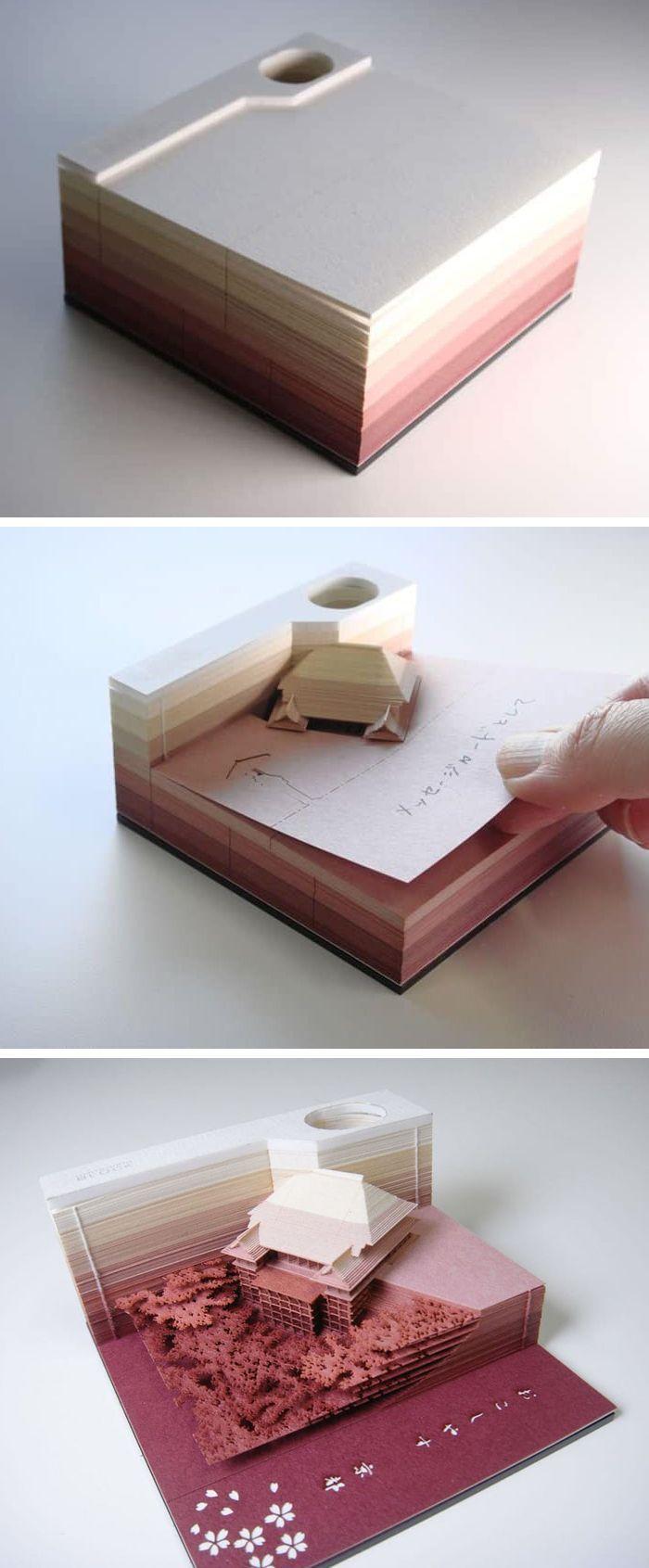 """Notizblock """"Grabt"""" architektonische Standorte mit jedem Blatt, das Sie entfernen… – Chris"""