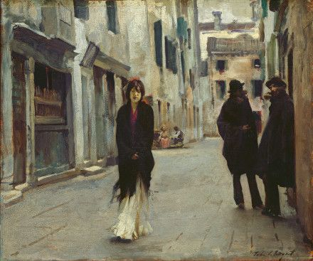 """Street in Venice,"" John Singer Sargent, 1882, oil on wood, 17 3/4 x 21 1/4"", National Gallery of Art."