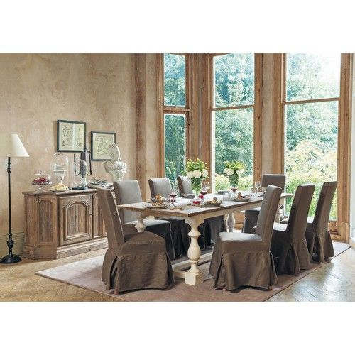 Tavolo per sala da pranzo in massello di legno L 250 cm