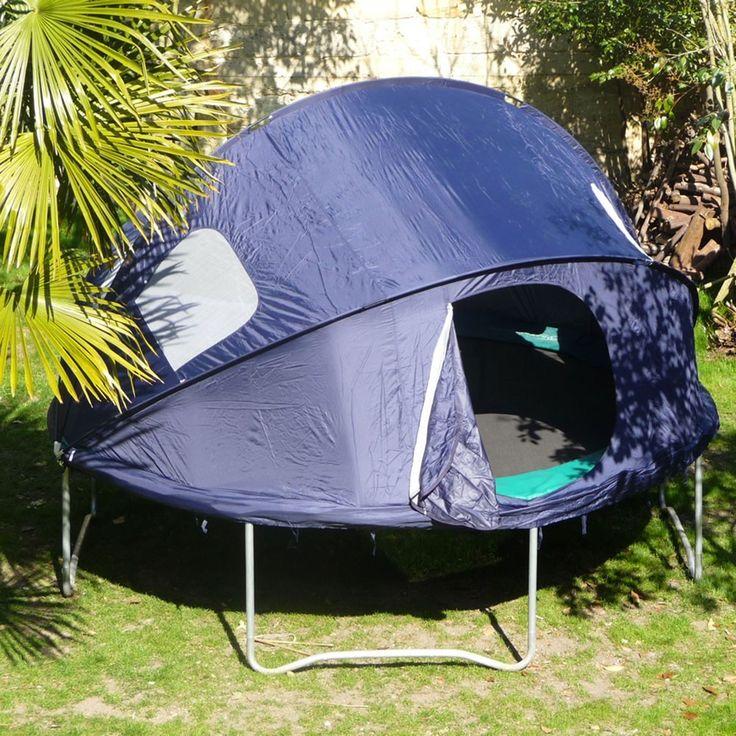 Ein sehr einfach aufzubauendes Zelt, speziell für Trampoline. Kinder haben viel Spaß daran, einen spannenden Ort zum Zurückziehen zu haben.